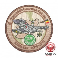 Belgian Air Force Operation Guardian Falcon KANDAHAR 2009-2010 aviation geborduurde patch | Strijkpatches | Military Airsoft