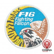 Belgian Air Force F-16 Fighting Falcon – 31 Tiger squadron aviation geborduurde patch | Strijkpatches | Military Airsoft