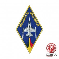 Belgian Air Force F-16 Solo Display aviation geborduurde patch | Strijkpatches | Military Airsoft