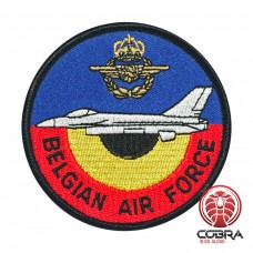 Belgian Air Force F-16 Pilot Shoulder aviation Geborduurde Patch met klittenband