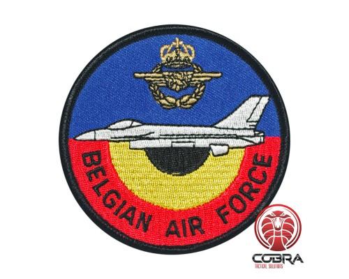 Belgian Air Force F-16 Pilot Shoulder aviation Geborduurde Patch met klittenband