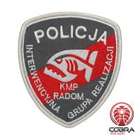 Policija Kmp Radom geborduurde patch   Vastnaaien   Military Airsoft
