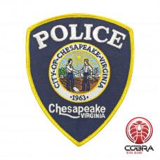 Police Chesapeake_Virginia geborduurde patch | Opnaai | Military Airsoft