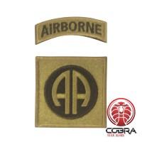 Geborduurd embleem van 82nd Airborne Division Brons met klittenband