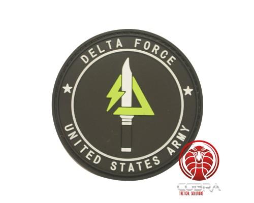 Delta Force | United States Militaire 3D PVC Badge zwart met klittenband