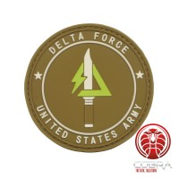 Delta Force | United States Militaire 3D PVC Badge bruin met klittenband
