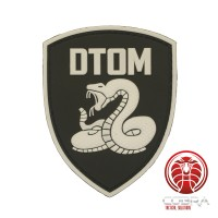Don't Tread On Me PVC Patch zwart (glow in the dark) met klittenband