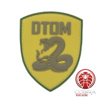 Don't Tread On Me PVC Patch groen met klittenband