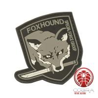 FOXHOUND Special Force Group 3D PVC patch grijs met klittenband