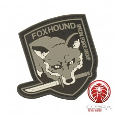 FOXHOUND Special Force Group 3D PVC patch grijs met klittenband