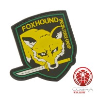 FOXHOUND Special Force Group 3D PVC patch geel met klittenband