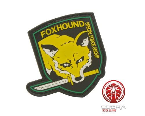 FOXHOUND Special Force Group 3D PVC patch geel met klittenband