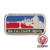 Major League Sniper Geborduurd militair embleem blauw rood met klittenband