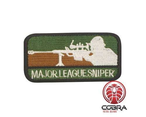 Major League Sniper Geborduurd militair embleem groen bruin met klittenband