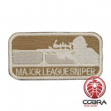 Major League Sniper Geborduurd militair embleem bruin beige met klittenband