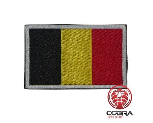 Belgische vlag geborduurde militaire patch met klittenband