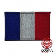 Franse vlag geborduurde militaire patch met klittenband