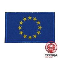 Europese Unie Europese vlag geborduurde militaire patch met klittenband