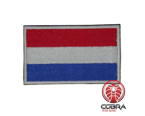 Nederlandse vlag geborduurde militaire patch met klittenband