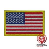 USA Amerikaanse vlag geborduurde militaire patch met klittenband