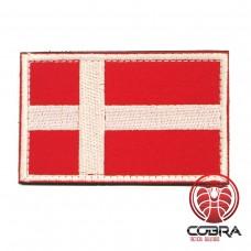 Vlag Denemarken geborduurde patch | Strijkpatches | Military Airsoft