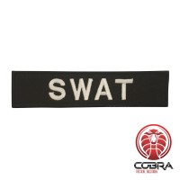 SWAT patch black met klittenband