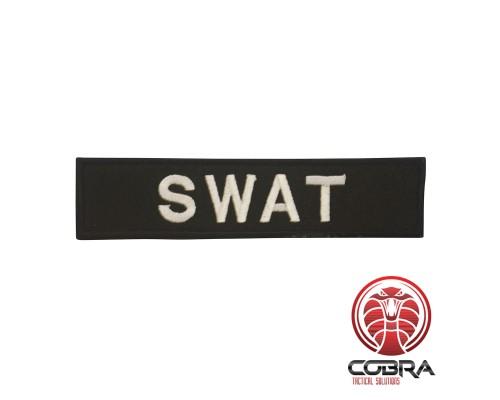 SWAT patch black met klittenband