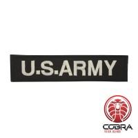 U.S. ARMY patch zwart met klittenband