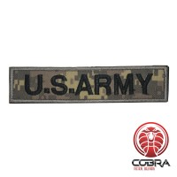 U.S. ARMY patch digital woodland camo  met klittenband