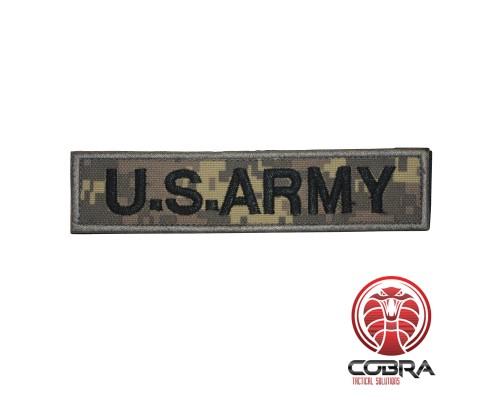 U.S. ARMY patch digital woodland camo  met klittenband