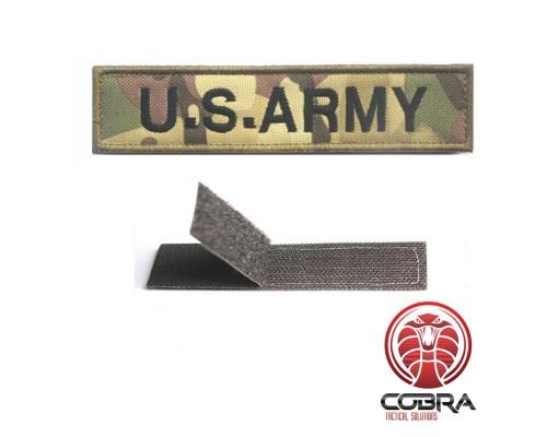U.S. ARMY geborduurde patch woodland camo met Velcro