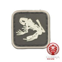 US Navy Seals Bone kikker skelet PVC Patch zwart met klittenband