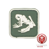 US Navy Seals Bone kikker skelet PVC Patch groen met klittenband