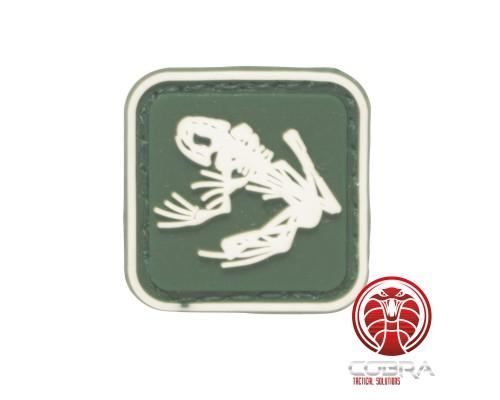 US Navy Seals Bone kikker skelet PVC Patch groen met klittenband