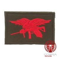 USA Navy Seals geborduurde vlag zwart rood met klittenband