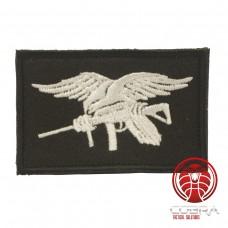 USA Navy Seals geborduurde vlag zwart wit met klittenband