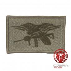 USA Navy Seals geborduurde vlag grijs blauw met klittenband