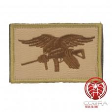 USA Navy Seals geborduurde vlag bruin met klittenband
