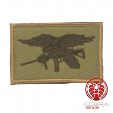 USA Navy Seals geborduurde vlag groen zwart met klittenband