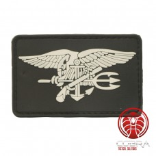 USA Navy Seals zwarte PVC vlag met klittenband