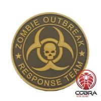 Zombie Outbreak * Response Team 3D PVC Patch bruin met klittenband