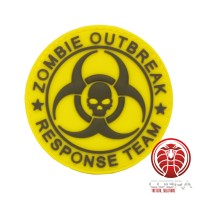 Zombie Outbreak * Response Team 3D PVC Patch geel met klittenband