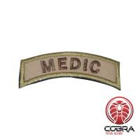 MEDIC militaire geborduurde patch groen/bruin met klittenband