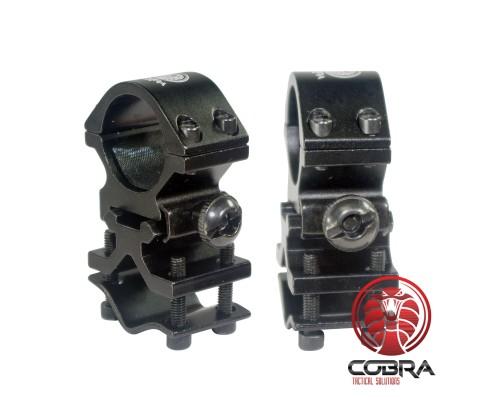 1inch loopmontage voor laser of flash lamp | Picatinny Rail | kleur Antraciet