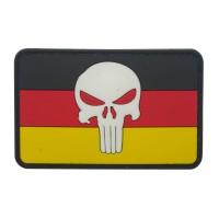 Punisher wit hoofd op de vlag van Duitsland Cosplay PVC Patch met klittenband