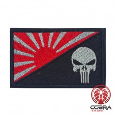 Japanese War Flag Rising Sun grijze punisher Geborduurde militaire Patch met klittenband