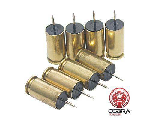 Push Pins .40 S&W Brass - 8 stuks