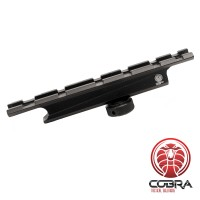 Tactical Picatinny Rail naar Carry Handle Voor M4 / M16 Serie wapens| 1mm verhoging - 130mm lang | Antraciet kleur