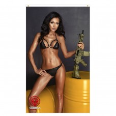 Ira - Sexy Woman with an M4CQB rifle - 90 x 150 cm Durable Polyester Airsoft - Flag Banner