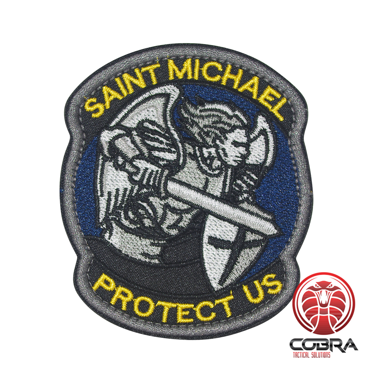 SWAT PROTECT US SAINT MICHAEL TACTICAL BADGE HOOK MORALE MILITARY PATCH